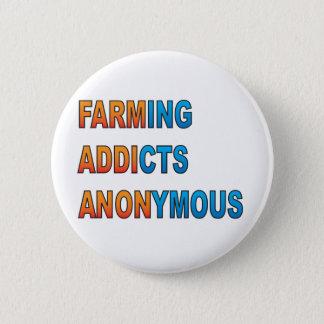 Landwirtschaft die Süchtigen anonym Runder Button 5,1 Cm