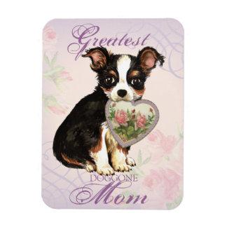 Lange Mantel-Chihuahua-Herz-Mamma Magnet