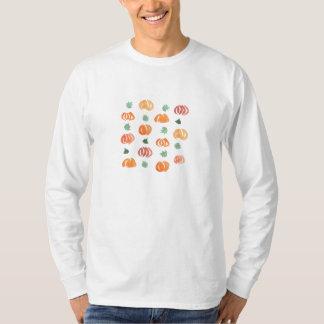 Langer T - Shirt die Hülse der Männer mit Kürbisen