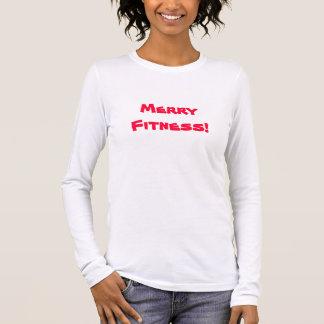 Langes Hülsen-Shirt der fröhlichen Fitness Langärmeliges T-Shirt