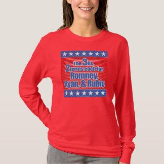 langes T-Shirt der Hülsen-3Rs für Damen