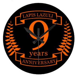 Lapislazuli-Hochzeitstag 10 Jahre Wanduhr