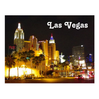 Las Vegas an der Nachtpostkarte! Postkarte