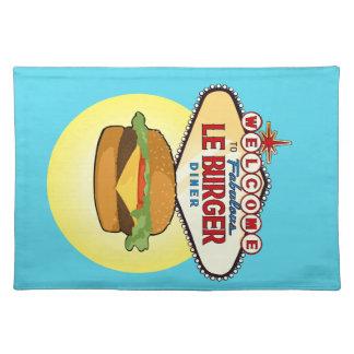 Las Vegas-Burger-Restaurant Stofftischset