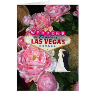 Las Vegas, das rosa Rosen Braut u. Bräutigam Karte