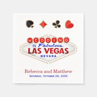 Las Vegas, das verheiratete fabelhafte Hochzeit Papierserviette