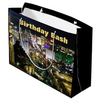 Las Vegas-Geburtstags-Schlag-Streifen Große Geschenktüte