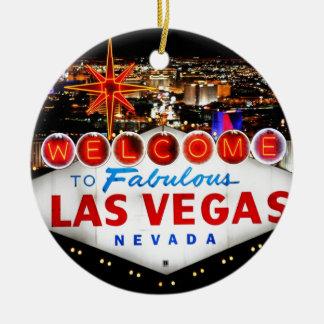 Las Vegas-Geschenke Rundes Keramik Ornament