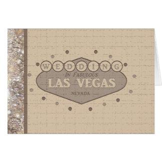 Las Vegas-Hochzeits-Karte Grußkarte