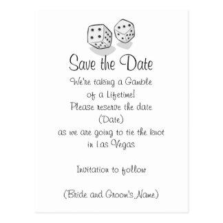 Las Vegas Save the Date Postkarten