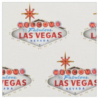 Las Vegas-Willkommensschild-Gewebe Stoff