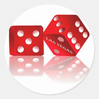 Las Vegas-Würfel Runde Sticker