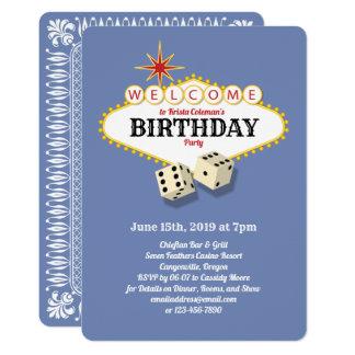 Las- Vegasfestzelt-Geburtstags-PartyHydrangea Karte