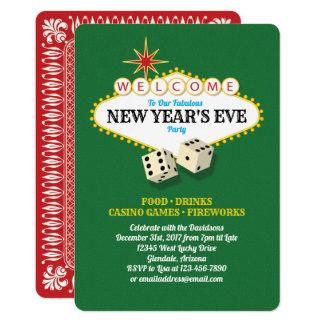 Las- Vegasfestzelt-Silvester-Party Karte