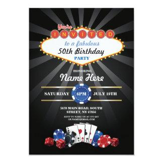 Las- Vegaskasino-Nachtgeburtstag laden Party ein 12,7 X 17,8 Cm Einladungskarte