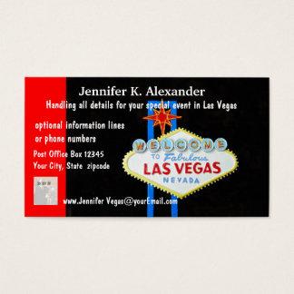 Las- VegasParty-Planer-Ereignisse Visitenkarten
