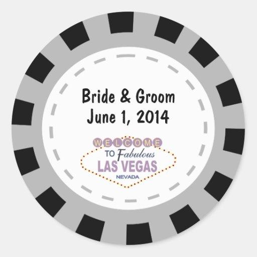Las- VegasPoker-Chip-Hochzeits-Aufkleber