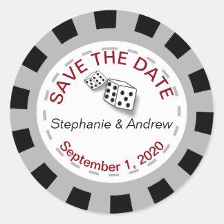 Las- VegasPoker-Chip-Save the Date Aufkleber