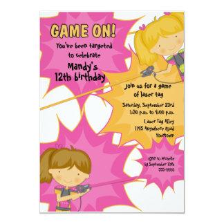 Laser-Umbau-Mädchen-Geburtstags-Einladung 12,7 X 17,8 Cm Einladungskarte