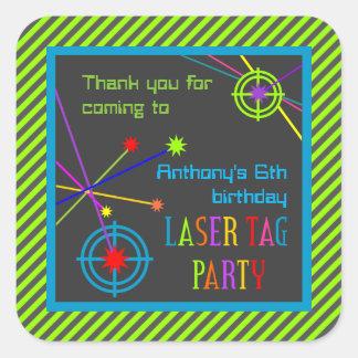 Laser-Umbau-Party-Geburtstag danken Ihnen Quadratischer Aufkleber
