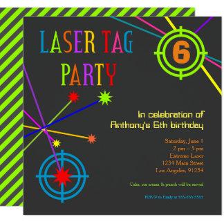 Laser-Umbau-Party-Geburtstags-Einladung Quadratische 13,3 Cm Einladungskarte