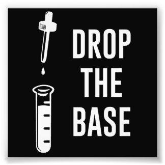 Lassen Sie die Bass-Chemie-Basis fallen Foto