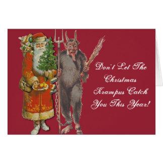 Lassen Sie Krampus Ihnen Weihnachtskarte nicht Grußkarte