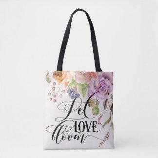 Lassen Sie Liebe-Blüten-Taschen-Tasche