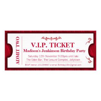 Lassen Sie zu, dass zwei VIP 25. Geburtstags-Party Ankündigungskarten