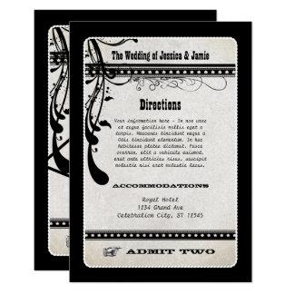 Lassen Sie zwei Vintage Showbill das UAWG 8,9 X 12,7 Cm Einladungskarte