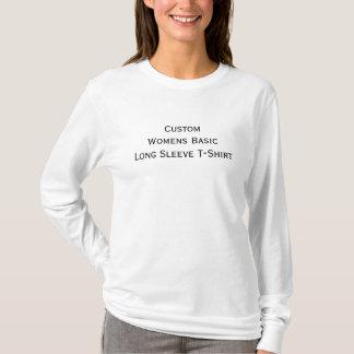 Lässige grundlegende lange die Hülsen-Baumwolle T-Shirt