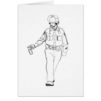 Lässiger Pfeffer-Spray-Polizist Karte