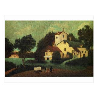 Lastwagen vor der Mühle durch Henri Rousseau Postkarte