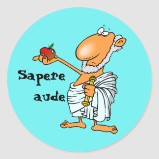 Latein: Sapere Aude Runder Aufkleber