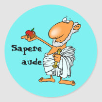 Latin: Sapere aude Round Sticker