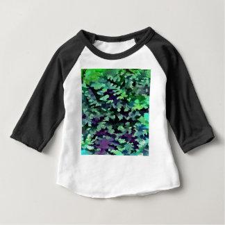 Laub-abstrakte Pop-Kunst im Jade-Grün und dem Baby T-shirt