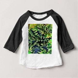 Laub-abstrakte Pop-Kunst in Grünem und im Blau Baby T-shirt