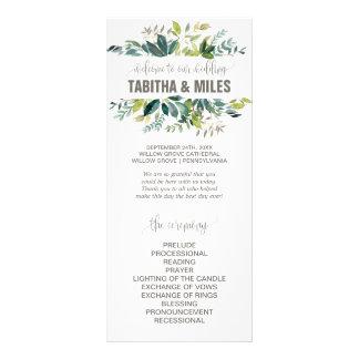 Laub-Hochzeits-Programm Werbekarte
