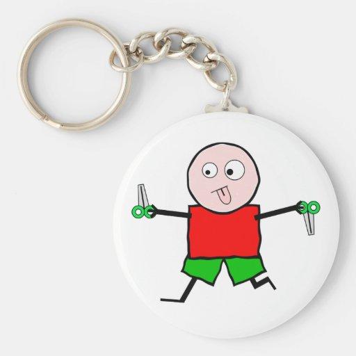 Laufen Sie mit Scheren Schlüsselanhänger