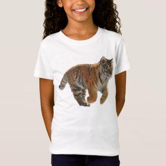 Laufende Amur-Tiger-CUB-Tier-Kunst T-Shirt