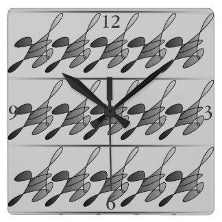 Laufende Mann-Quadrat-Uhr Quadratische Wanduhr
