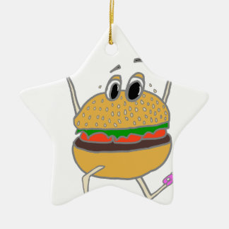 laufender Burger Keramik Ornament