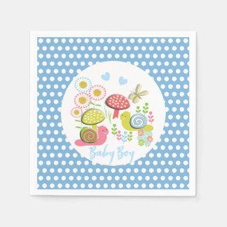 Launische Märchen-Frühlings-Garten-Baby-Dusche Papierserviette