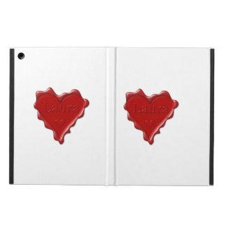 Laura. Rotes Herzwachs-Siegel mit Namenslaura