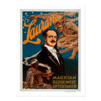 Laurant Magier, Illusionist, Entertainer-Magie Postkarte