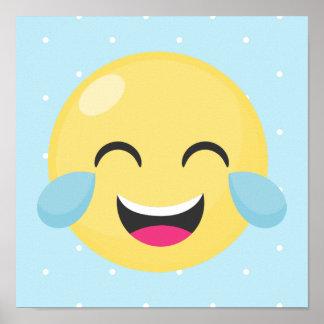Laute Emoji Punkte heraus lachen Poster