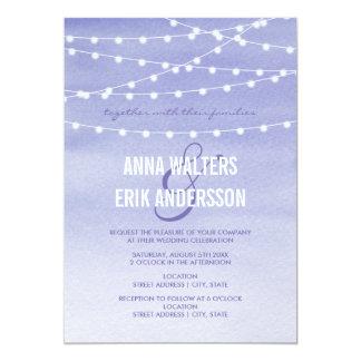 Lavendel-Aquarell-Schnur-Lichter 12,7 X 17,8 Cm Einladungskarte