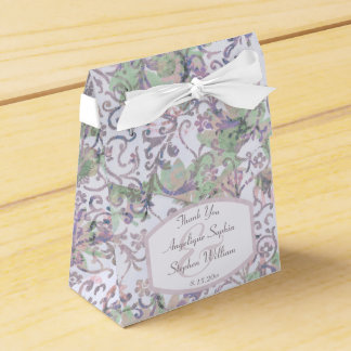 Lavendel-Blumendamast-Hochzeit Geschenkschachtel