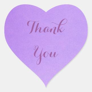Lavendel danken Ihnen Herz-Aufkleber