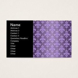 Lavendel-extravaganter Damast Visitenkarte